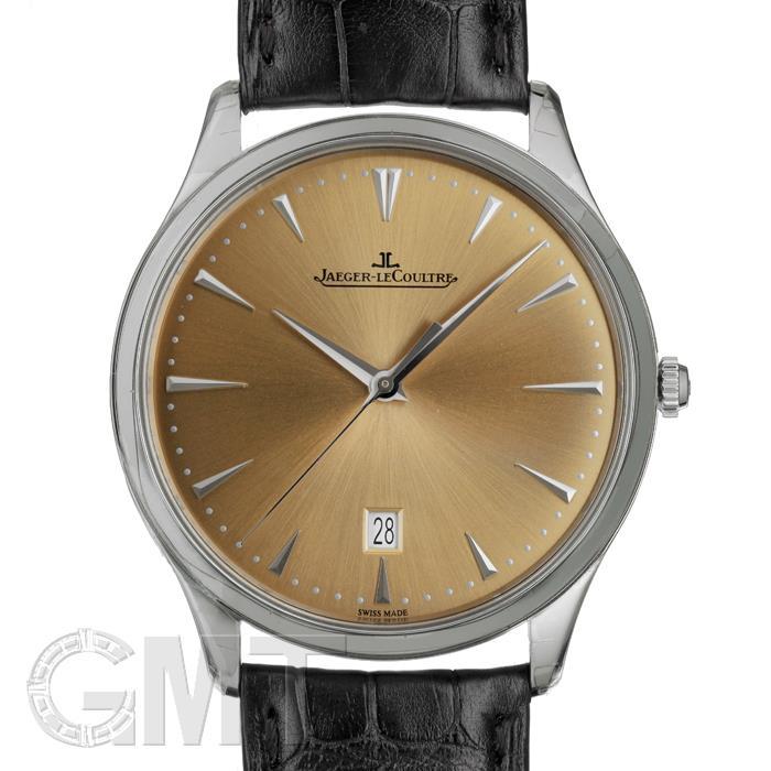 ジャガールクルト マスターウルトラスリムデイト シャンパン SS革 Q1288430 JAEGER LECOULTRE 【新品】【メンズ】 【腕時計】  【あす楽_年中無休】