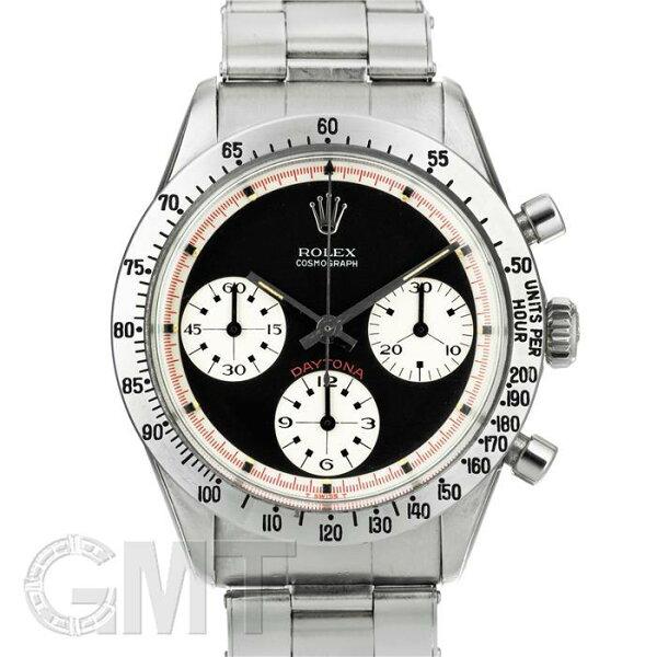 ロレックスデイトナ6239ポールニューマンエキゾチックダイヤル黒/赤巻きROLEX中古メンズ腕時計