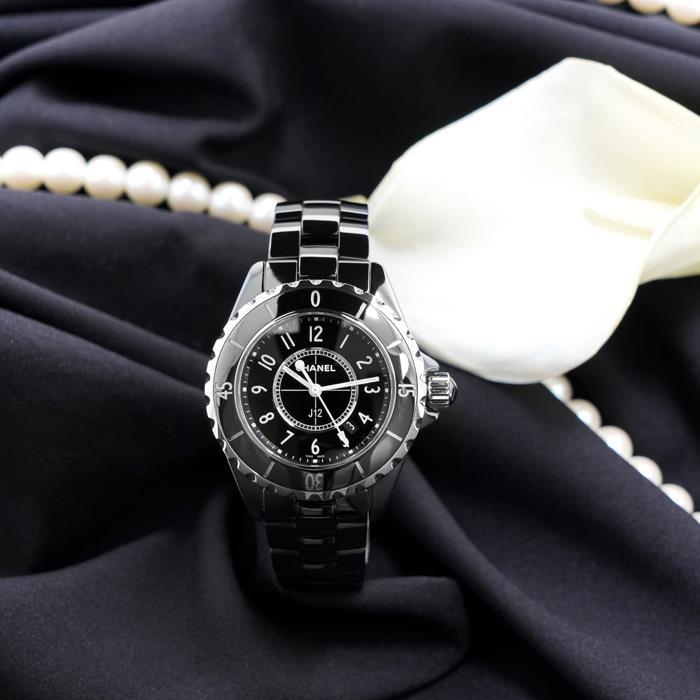 シャネルJ12H068233?ブラックセラミックCHANEL中古レディース腕時計送料無料_年中無休