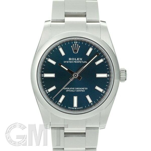 2020年  ロレックスオイスターパーペチュアル34124200ブライトブルーROLEX中古メンズ腕時計