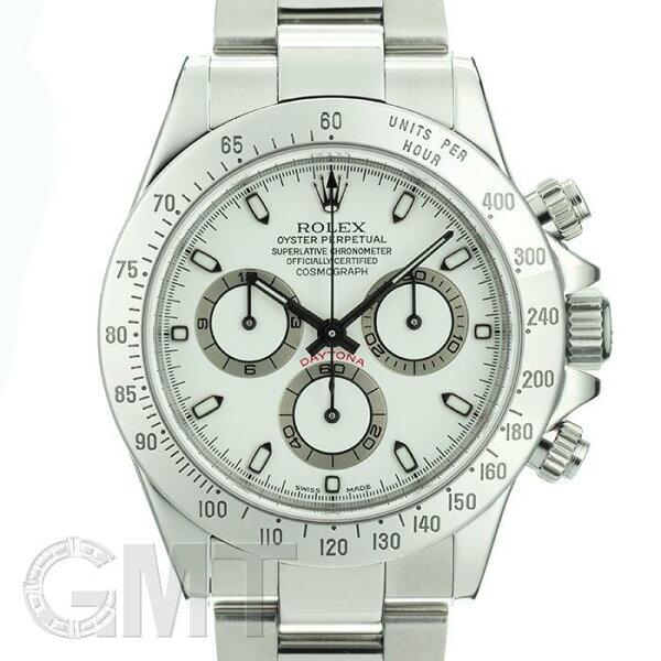 ロレックスデイトナ116520クリームP番ROLEX中古メンズ腕時計