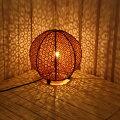 新生活アジアン雑貨照明バリ雑貨フロアライトスタンドライトテーブルライトボール型球型バンブーアジアンランプフロアランプ間接照明おしゃれボールランプリビングダイニング和室バリアジアン