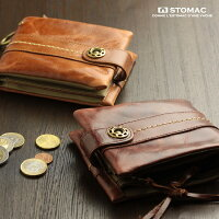 ESTOMAC(エストマ)本革二つ折り財布「ユニプルアップ」