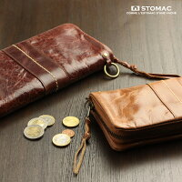 ESTOMAC(エストマ)「ユニプルアップ」本革ラウンドファスナー長財布