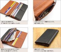 日本製シープスキン調牛革の長財布