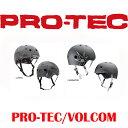 【送料無料】PRO-TEC SKATE HELMET CLASSIC SKATE VOLCOM COLLAB / プロテックスケートヘルメット クラッシックスケート ボルコム スケートボード用ヘルメット 大人用 キッズ用