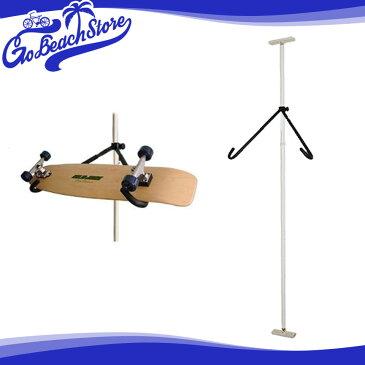 Rainbow/レインボー スノーボードラック スケートボードラック SR03 (スノー&スケート用・斜め置きタイプ) スノーボードスタンド ディスプレイ つっぱりタイプ スノーボード収納 スケートボード収納