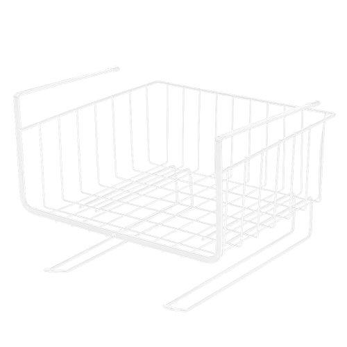 Baskissキッチン吊り戸棚下多機能ラック吊戸棚ストレージバスケットクローゼット吊り下げ収納かごデスク/テーブル/ロッカー/ド