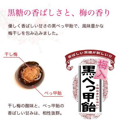 ほんのり酸味が爽やかな干し梅と、香ばしい黒糖の優しい甘みが絶妙のバランス。