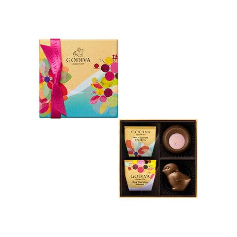 母の日 ギフト チョコレート スイーツ ゴディバ (GODIVA)アンシャンチュール アソートメント チック & ゴールド 4粒入