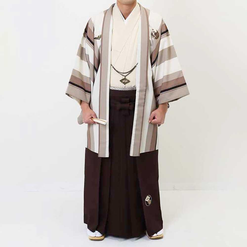 【レンタル】【成人式】安心の最大1ヶ月レンタル可能|男性用レンタル紋付き袴フルセット-7080
