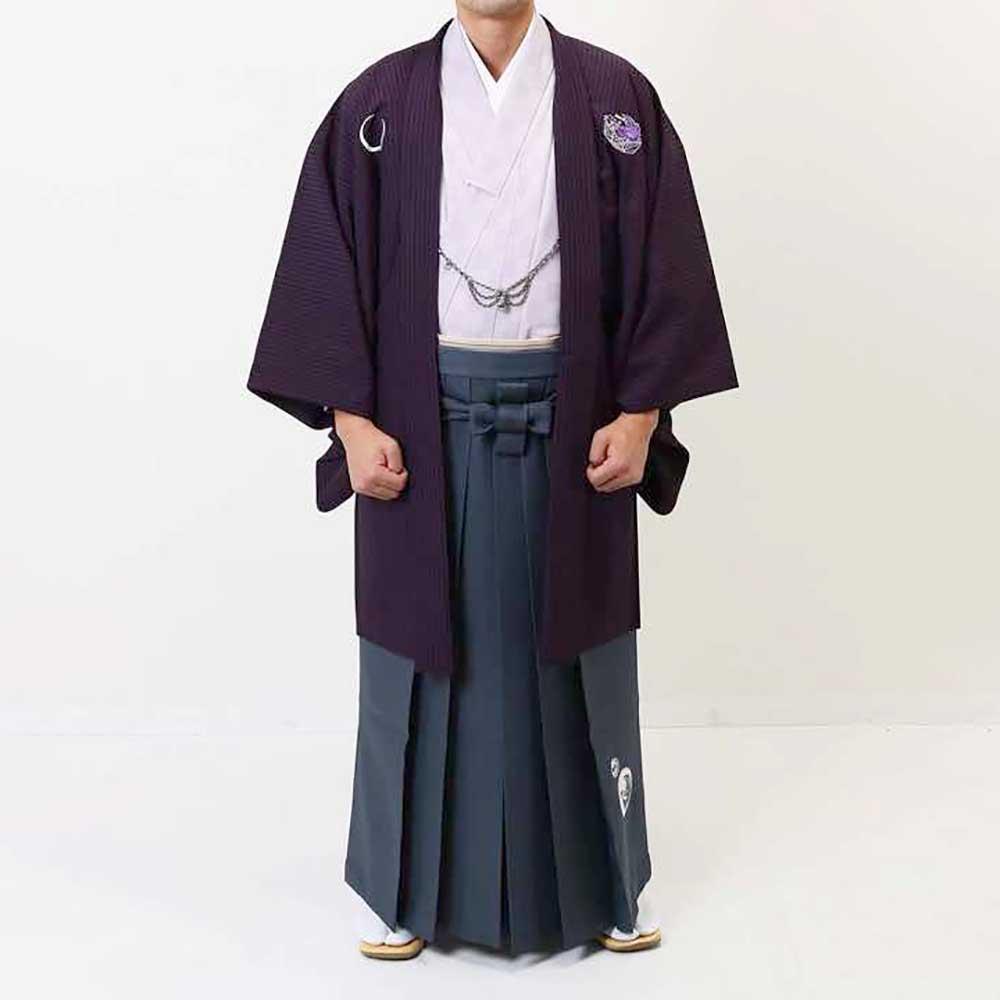 【レンタル】【成人式】安心の最大1ヶ月レンタル可能 男性用レンタル羽織袴フルセット-7261