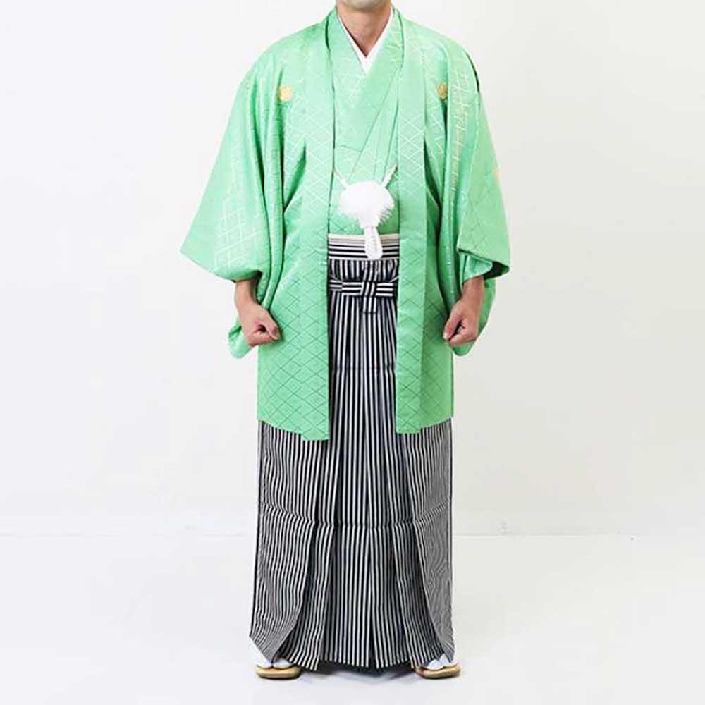 【レンタル】【成人式】安心の最大1ヶ月レンタル可能 男性用レンタル紋付き袴フルセット