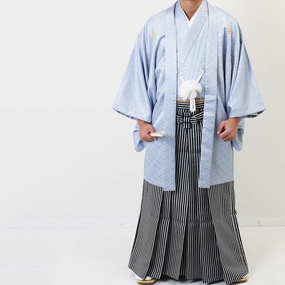 【レンタル】【成人式】安心の最大1ヶ月レンタル可能|男性用レンタル紋付き袴フルセット-7023
