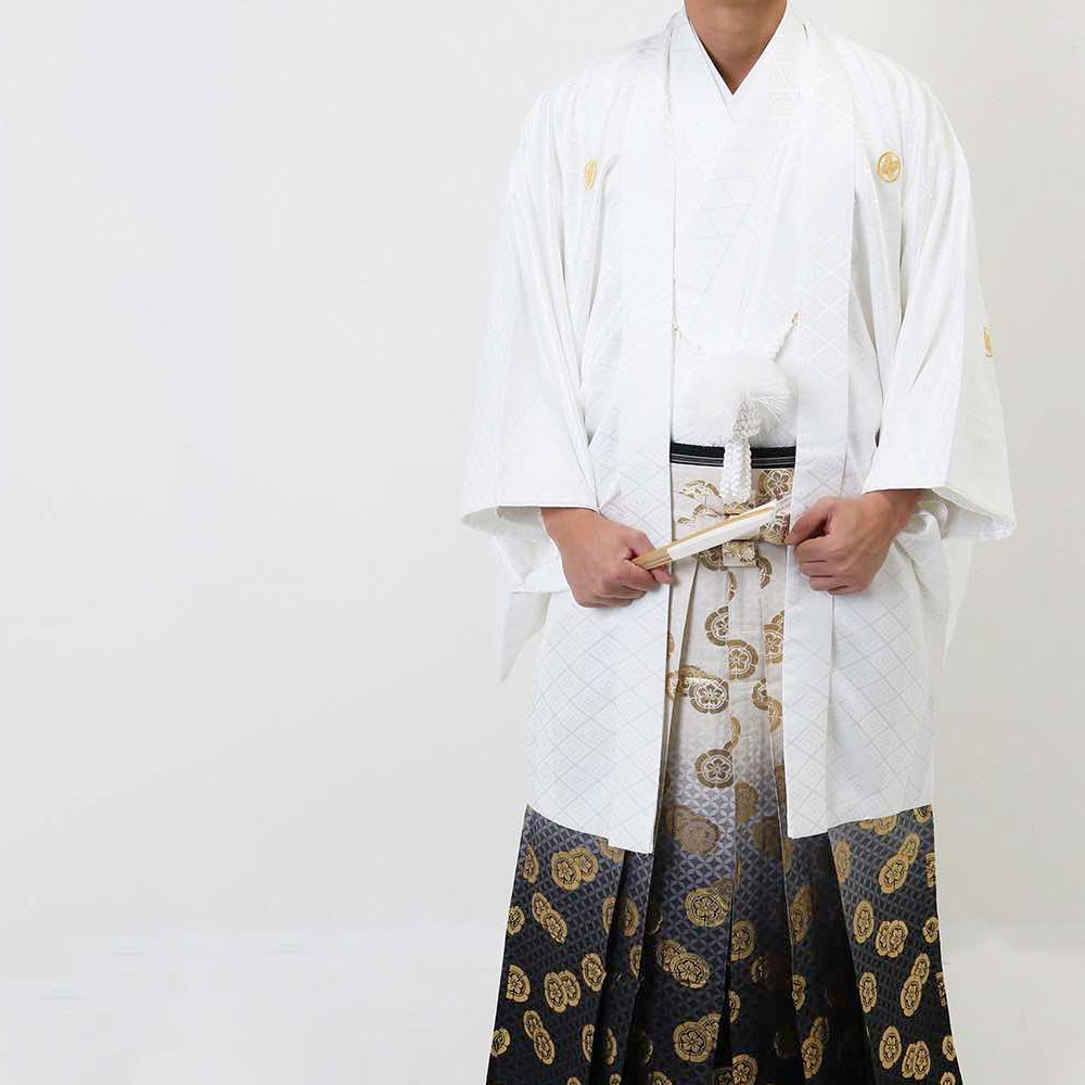 【レンタル】【成人式】安心の最大1ヶ月レンタル可能 男性用レンタル紋付き袴フルセット-7087