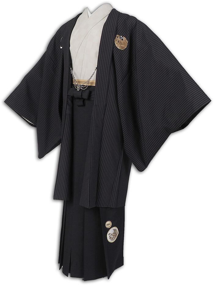【レンタル】【成人式】安心の最大1ヶ月レンタル可能 男性用レンタル羽織袴フルセット-7114