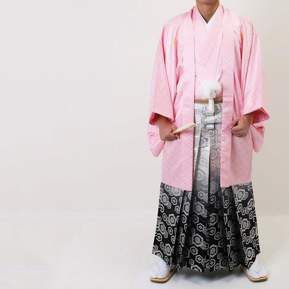 【レンタル】【成人式】安心の最大1ヶ月レンタル可能 男性用レンタル紋付き袴フルセット-7251