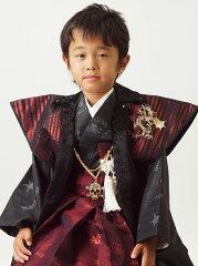 ☆【往復送料無料】【レンタル七五三】【BLUE CROSS】 男の子5歳用アンサンブル袴フルセット