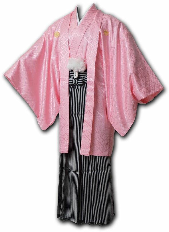 【レンタル】【成人式】安心の最大1ヶ月レンタル可能|男性用レンタル紋付き袴フルセット-7017