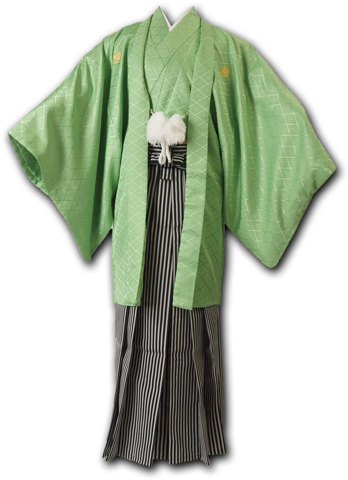 【レンタル】【成人式】安心の最大1ヶ月レンタル可能 男性用レンタル紋付き袴フルセット-7037