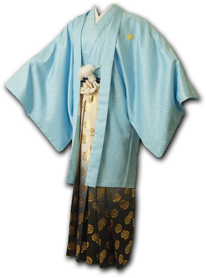 【レンタル】【成人式】安心の最大1ヶ月レンタル可能|男性用レンタル紋付き袴フルセット-7044