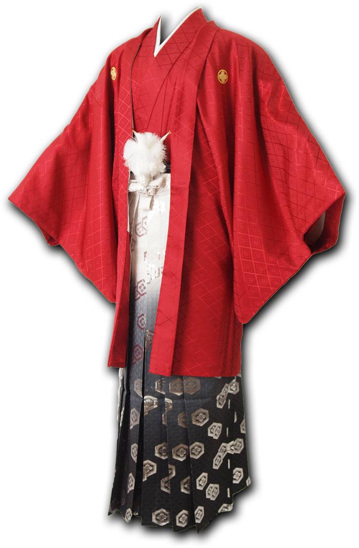 【レンタル】【成人式】安心の最大1ヶ月レンタル可能|男性用レンタル紋付き袴フルセット-7256