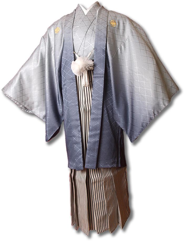 【レンタル】【成人式】安心の最大1ヶ月レンタル可能|男性用レンタル紋付き袴フルセット-7210