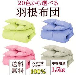 セミダブルサイズ羽根布団羽根軸が短い6.5cm未満のスモールフェザーを贅沢に100%使用。弾力性があってとってもふわふわ。暖かく夏は涼しい快眠が手に入ります。羽根布団羽毛布団掛け布団軽量掛け布団羽毛掛け布団羽根ふとん