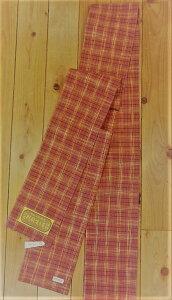 新潟県小千谷市の片貝町で250年の歴史を持つ紺仁(こんじん)工房で生産している木綿織物から仕立てた片貝木綿のリバーシブル半巾帯さらりとしてべとつかないのがいいところです。Yukao65145-019