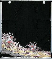 【留袖】レンタル 17号 H108cm迄 黒留袖 フルセットレンタル 往復往復 送料無料 L 2L 3L 11号 13号 15号 17号 大きいサイズ ワイドサイズ ゆったりサイズ 留袖レンタル 貸衣装 正絹 黒留袖レンタル 結婚式 高級品 母親 服装 とめそで トメソデ 黒留め袖 rental【rt218】