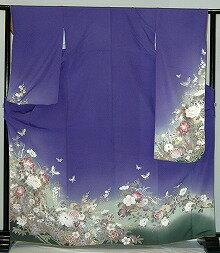 【レンタル】振袖レンタル【青・青紫・緑系】【RF316】標準/小柄/S寸/M寸/7号/9号/11号/13号/秋のキャンペーン