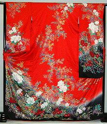 【レンタル】振袖レンタル【赤・ピンク・赤紫系】【RF766】標準/L寸/7号/9号/11号/13号/秋のキャンペーン