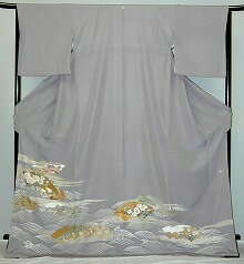 Campaign of the it420 light purple face of fan floral design rental colored formal kimono autumn