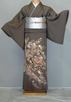 Campaign of the [colored formal kimono rental] rental colored formal kimono it419 Kaga-like weak powdered tea autumn