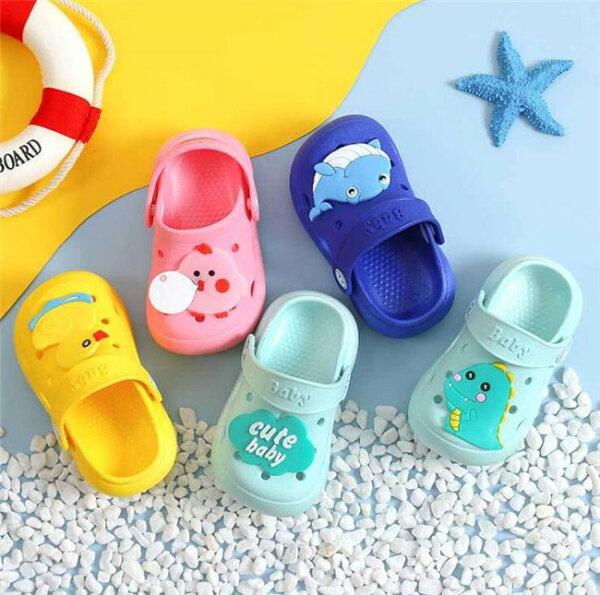 子供シューズキッズサンダルスリッパ防水ルームシューズ子ども子供用梅雨対策室内履き外出履き可愛いボーイズシューズガールズエレファン