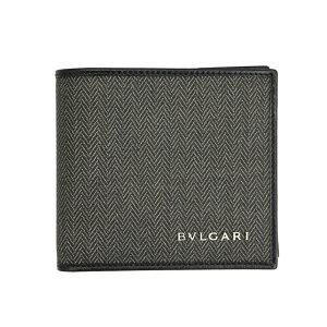 b2f97d9a5d99 ブルガリ(Bvlgari). ブルガリ 財布 ブラック/グレー 32581 BVLGARI 二つ折り財布 メンズ ...