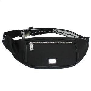 ドルチェ&ガッバーナ バッグ メンズ DOLCE&GABBANA ウエストポーチ ボディバッグ ロゴベルト ブラック/ホワイト ナイロン BM1495 B9I48 80999