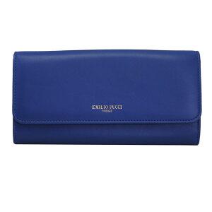 에밀리오 푸치 지갑 여성 EMILIO PUCCI 지갑 가죽 블루 내부 멀티 컬러 콘센트 8RSM22