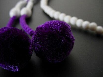 日蓮宗用本連(正式)数珠しゃこ8寸正絹菊房