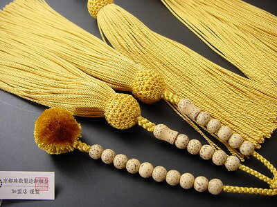 数珠日蓮宗用総星月菩提樹尺2金茶装束房(正絹6匁)