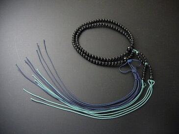 数珠 浄土真宗 布教用 尺2 黒オニキス 正絹紐房