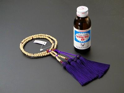浄土真宗用本連(正式)数珠星月菩提樹8寸メノウ入り人絹紫房