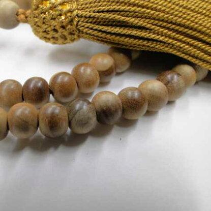 数珠浄土真宗用総白檀8寸(正絹房)