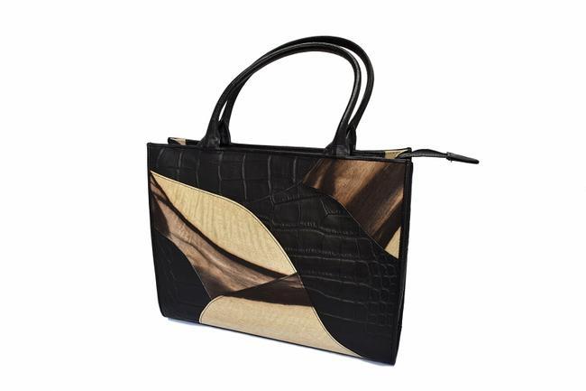 【バッグ】 黒柿トートバッグ(牛皮仕様)【日本製/市職人手作り】《送料無料》 かばん カバン バッグ 木製:ごくらくや