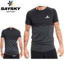【メーカー在庫商品】SAYSKY(セイスカイ) コーポレート ロゴ Tシャツ(ランニング半袖シャツ)【返品交換不可】