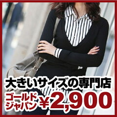 大きいサイズ レディース ブラウス 黒 ブラック シャツ トップス ロングシャツ 重ね着風 通販 ...