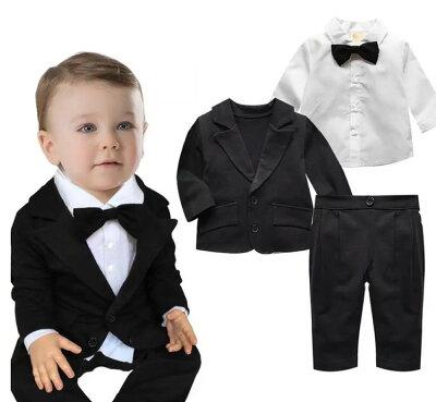 男の子 スーツ ベビースーツ 3点セットジャケット