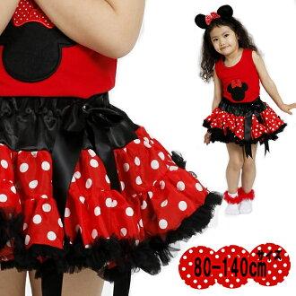米妮卷兔兔像芭蕾短裙發癢種網點圖案做不蓬鬆圓點裙短裙裙子黑色婚禮服裝兒童掛包舞蹈芭蕾短裙