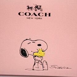 100b56e814e2 ... コーチ スヌーピー コラボ ラウンドファスナー 長財布 レディース ピンク レザー F53773 ...