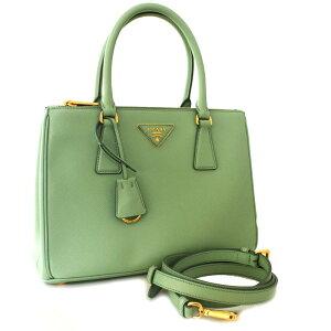 [Used] [Good Condition] PRADA Prada 2WAY Handbag Diagonal Shoulder Tote Bag Ladies Green Leather Saffiano 1BA863